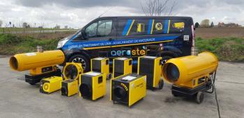 Large gamme de chauffages de chantier, chauffages au fioul ou électriques en vente ou location
