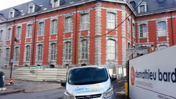 Assèchement batiment historique : l'Hopital du Hainaut à Valenciennes