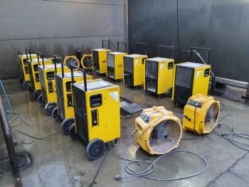 Un déshumidificateur performant est un appareil bien entretenu. Un  nettoyage haute pression est pratiqué à chaque issue d'intervention